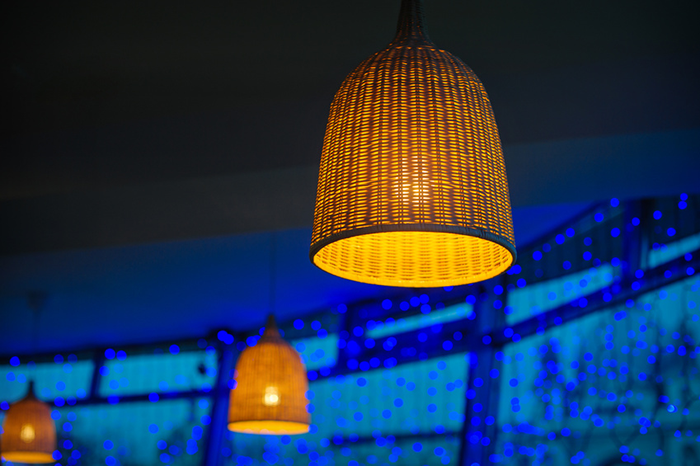 Rattan Lamp for natural lighting