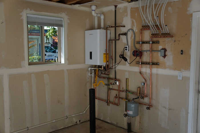 Completed hydronic installation
