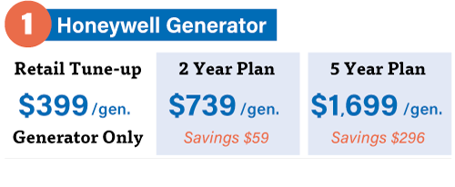 Guardian maintenance plan pricing for generators