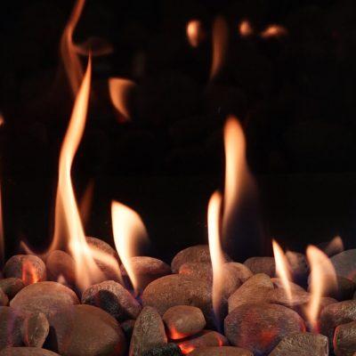tacoma wa Multicolor river rock fireplace inserts