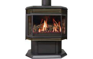 seattle fireplace Archgard 45 freestanding gold