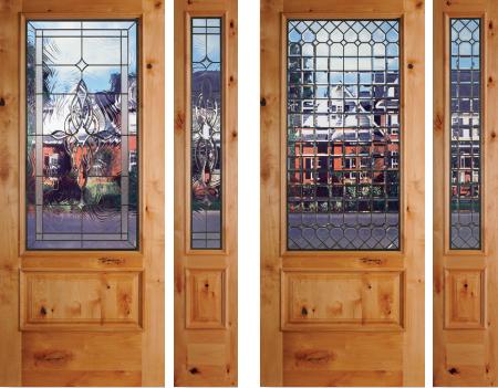 seattle wa exterior knotty alder raised exterior doors