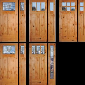 king county wa exterior knotty alder door installation