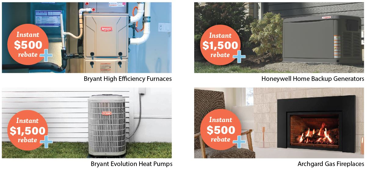 HVAC rebates with home heating sale