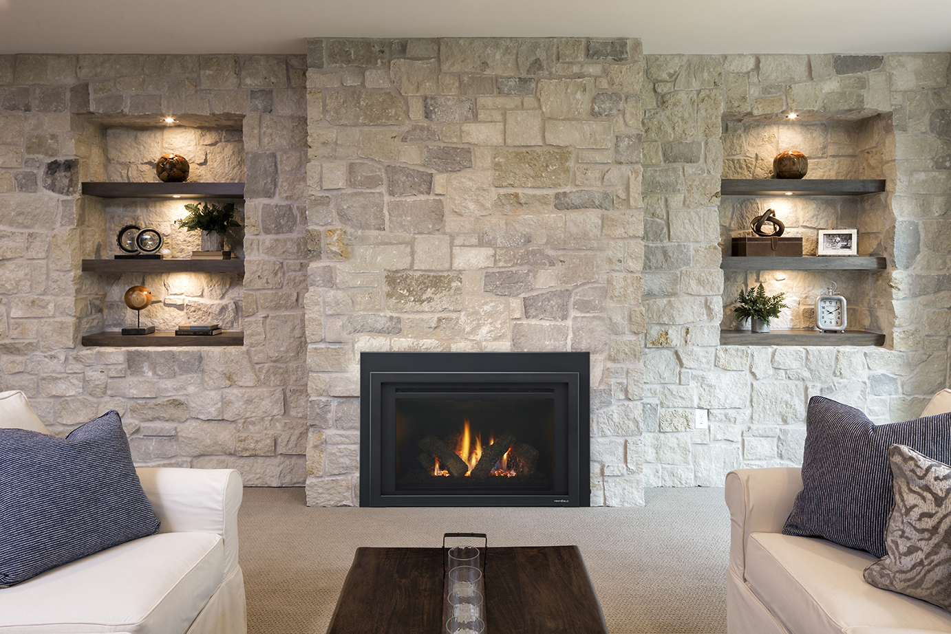 Fireplace installation in Stanwood
