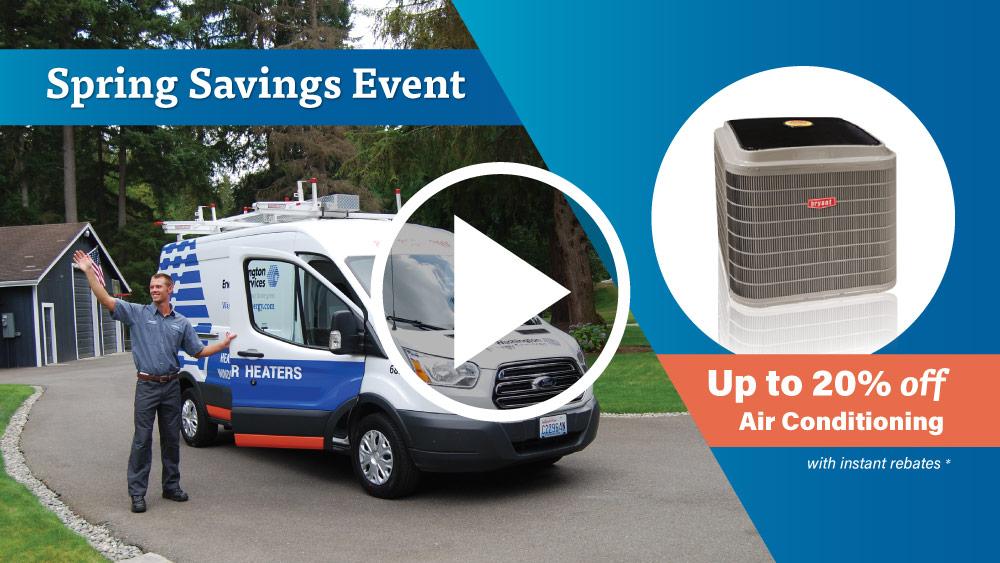 Spring Savings Event Washington Energy Services