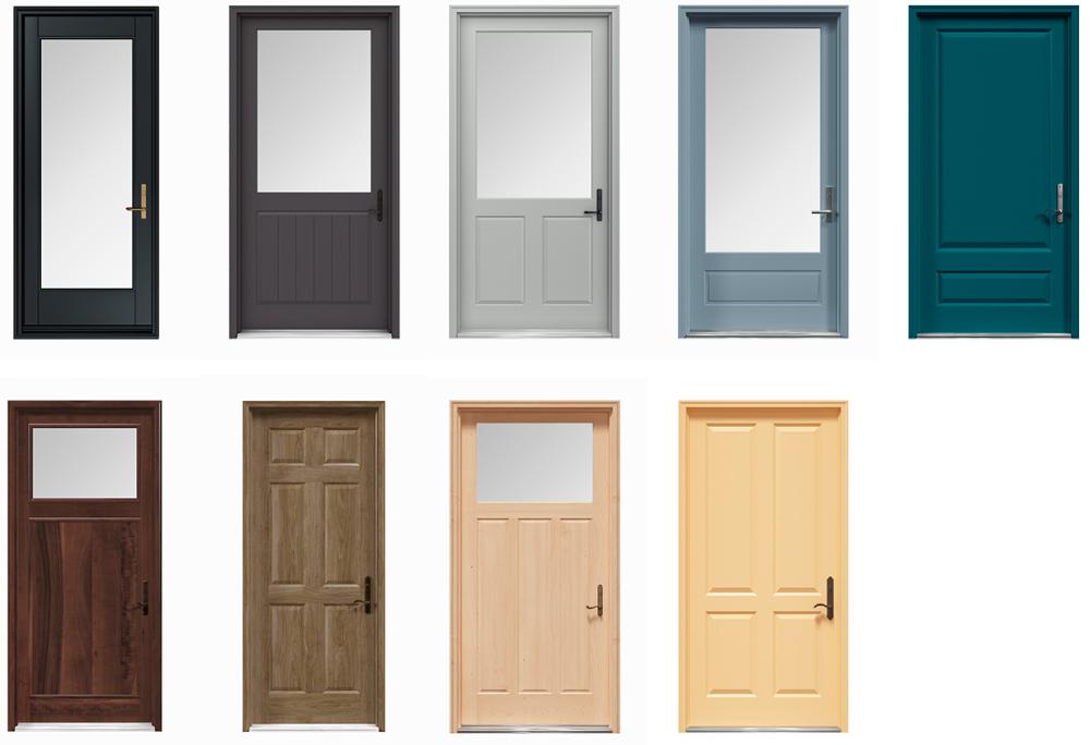 Installed Andersen Wood Door Styles