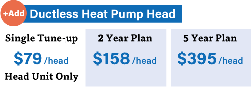 Guardian maintenance plan pricing for ductless heat pump heads