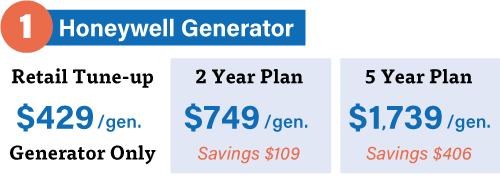 Generator service tune-up with washington energy GMC membership pricing